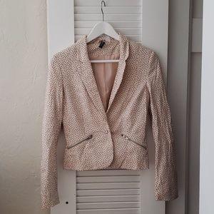 H&M DIVIDED vest in light cream polka dot